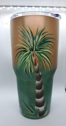 Palm tumbler green coral