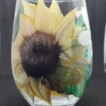 Sunflower Stemless Wineglass