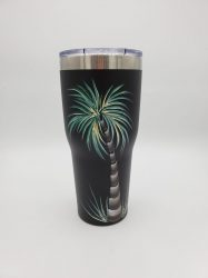 Black palm tree