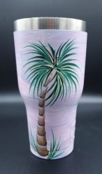 Pink purple palm